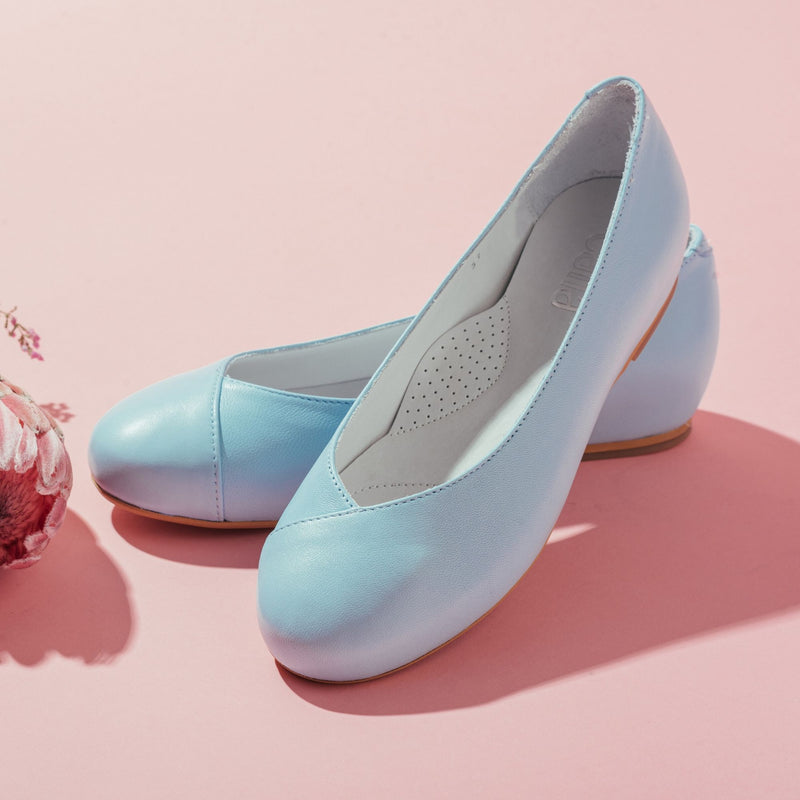 aqua blue leather flats for bunions