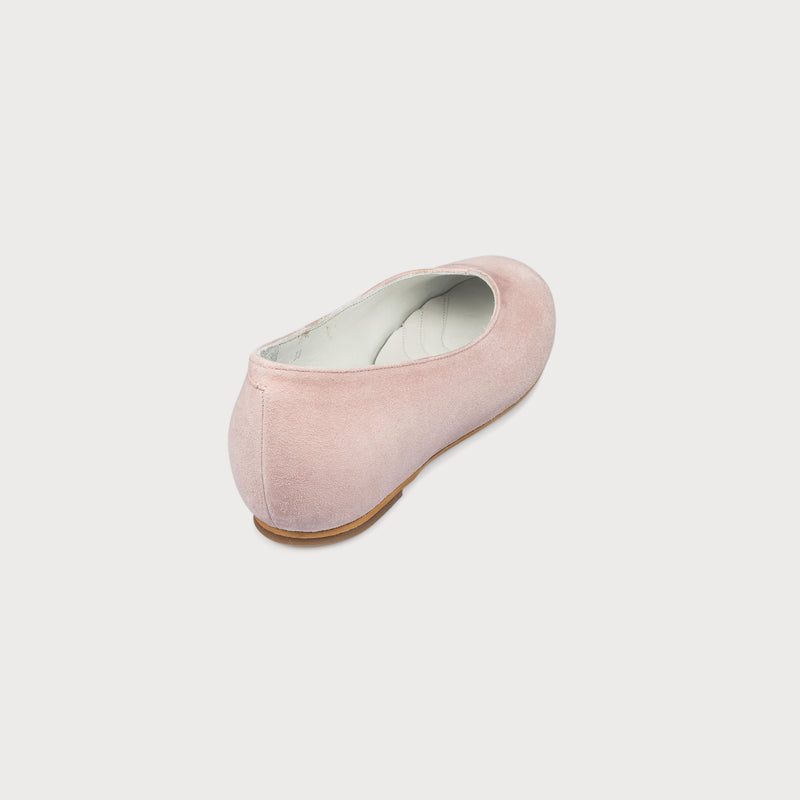 pink flat shoe back view