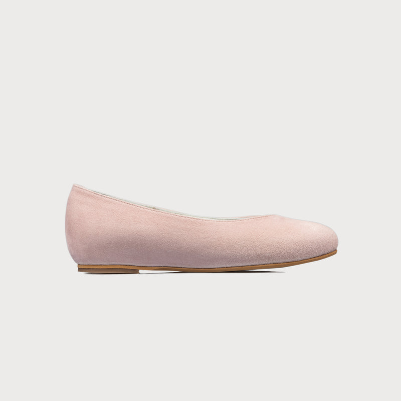 pink flat shoe side view