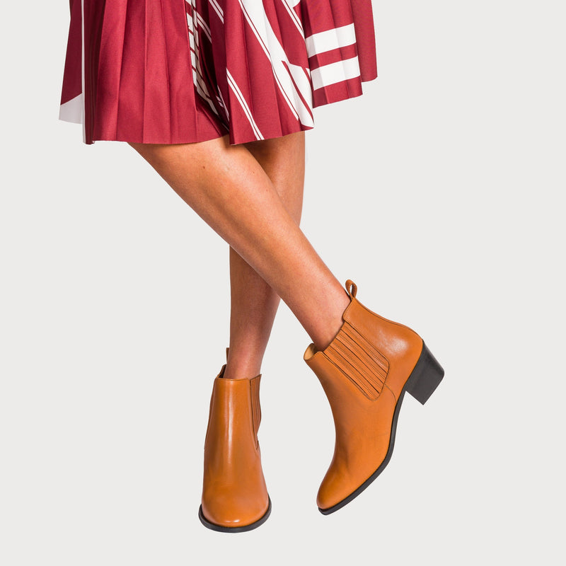 chelsea boots bunions comfortable leather tan stylish