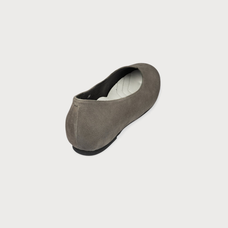 bunion shoes grey flats suede wide feet comfortable stylish