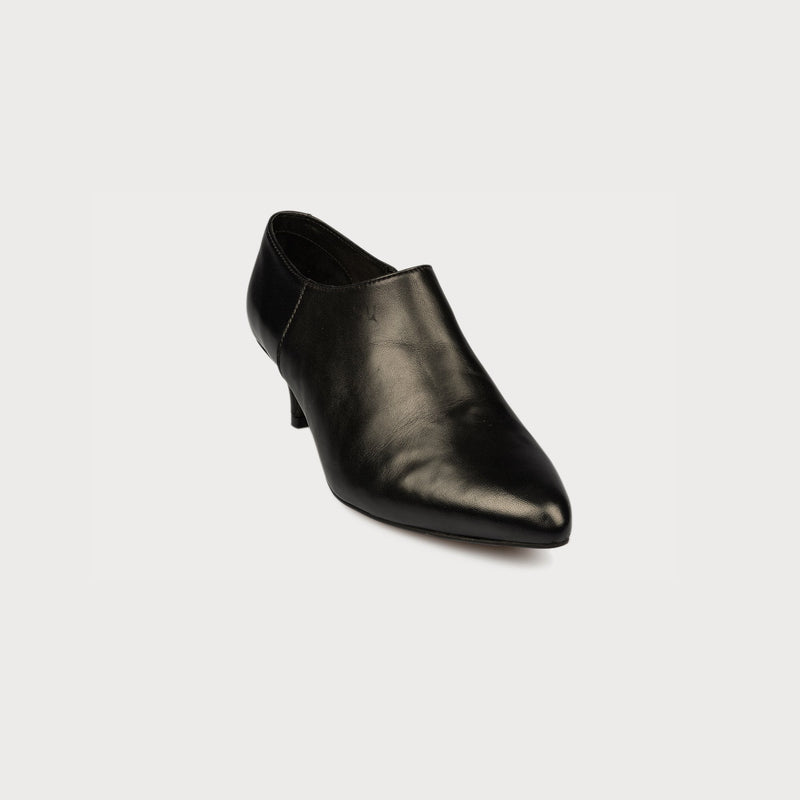 black leather shoe boot