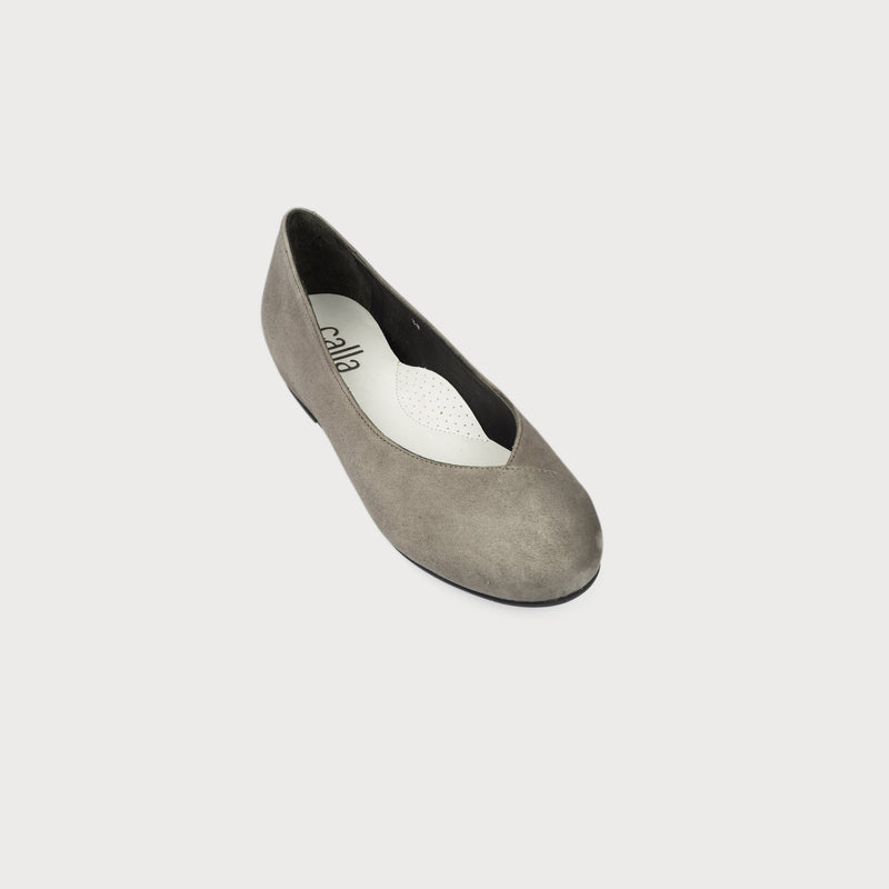 bunion shoes grey suede flat shoes wide feet