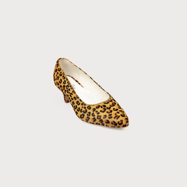 leopard print kitten heel shoes bunions wide feet comfort