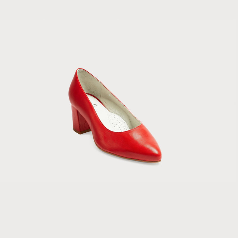 Calla Shoes | Esme | Red leather heeled