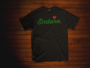 Green On Black Endure Tee