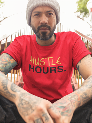 Red Hustle Hours Tee