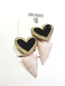 Corazon y Flecha Earrings