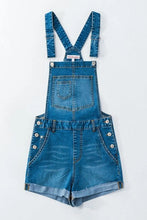 Load image into Gallery viewer, DENIM OVERALL SHORTS