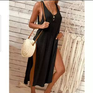 Tank High Slit Beach Dress