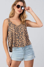 Load image into Gallery viewer, LEOPARD PRINT DEEP V TANK