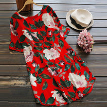 Load image into Gallery viewer, Summer Casual Floral Print Mini Dress