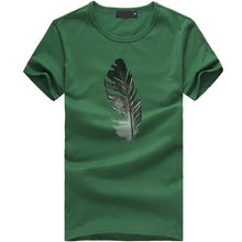 Load image into Gallery viewer, Short-Sleeved Feather Print Tshirt