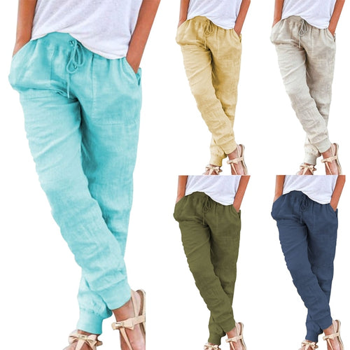 Loose Harem Ankle Length Casual Trousers