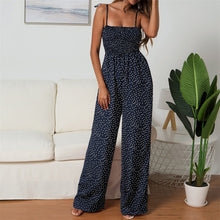 Load image into Gallery viewer, Womens Polka-dot Print Wide-leg Jumpsuit