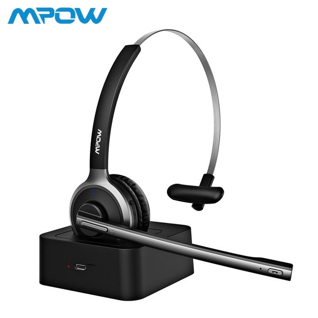Mpow BH231 Bluetooth 4.1 Office Headphone With Mic Charging Dock