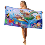 BEST Beach Towel - Turtle Love & Dolphin Love