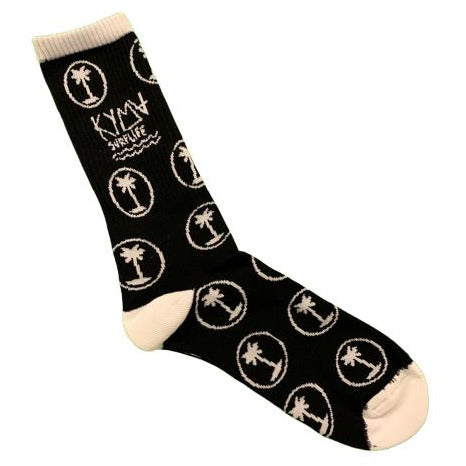 Kyma Black Palm Trees Socks - Kyma Surflife