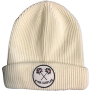 Kyma Palm Trees Beanie White - Kyma Surflife