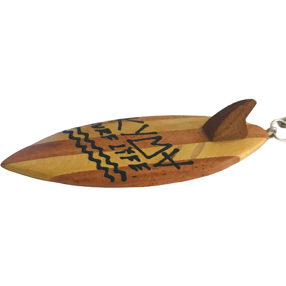 Kyma Wooden Surfboard Keychain 6cm (3 Pieces) - Kyma Surflife