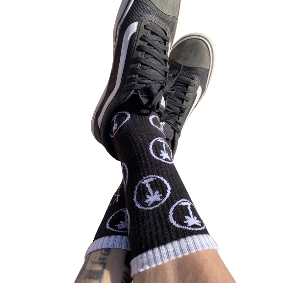 Kyma Black Palm Trees Socks