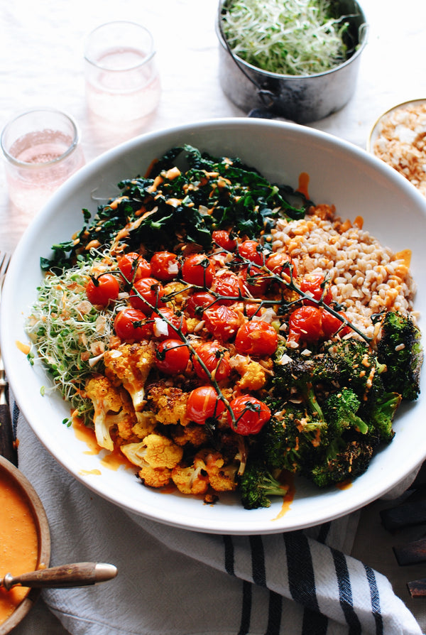 Roasted Vegetable and Farro Grain Bowl