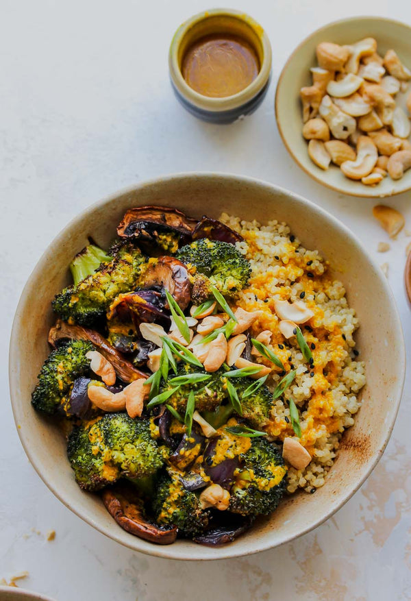 Roasted Veggie Quinoa Bowls with Miso