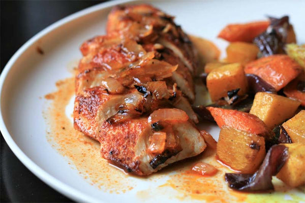 Broiled Paprika and Lemon-Pepper Chicken Breasts