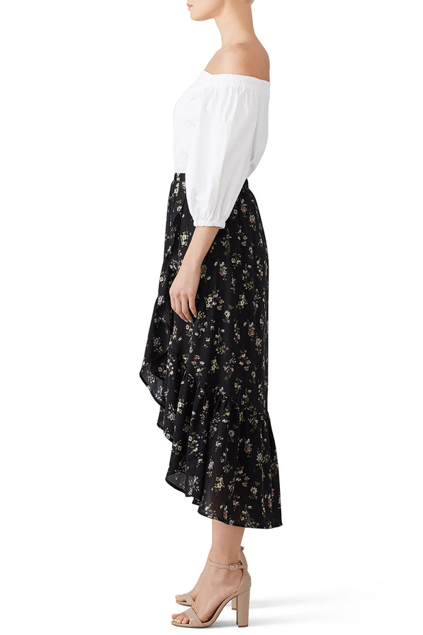 Emer Faux Wrap Ruffle Skirt