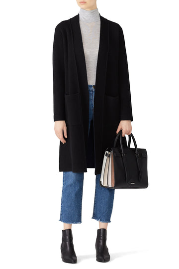 Black Knit Duster