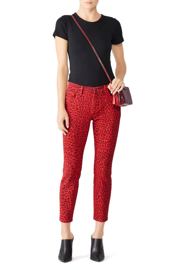 The Stiletto Leopard Skinny Jeans