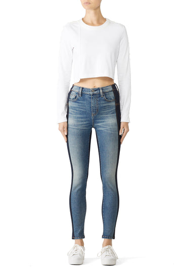 The Mashed High Waist Stiletto Jeans