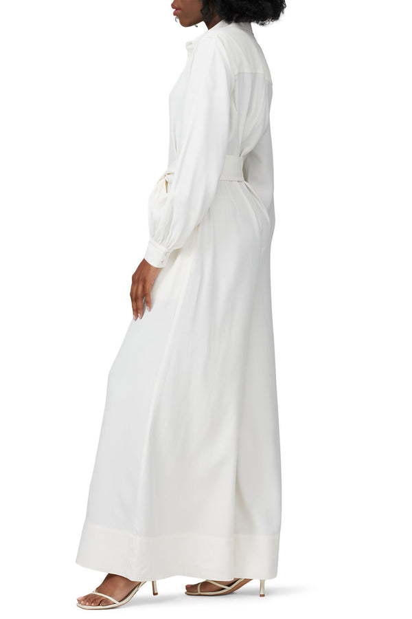 Belted Ivory Jumpsuit