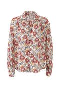 Floral Pleat Back Shirt