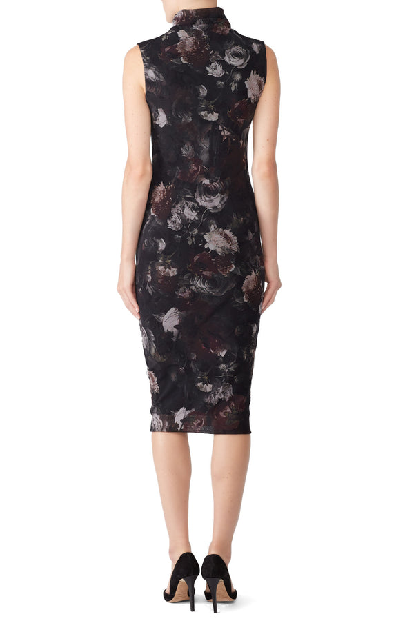 Dark Floral Sheath