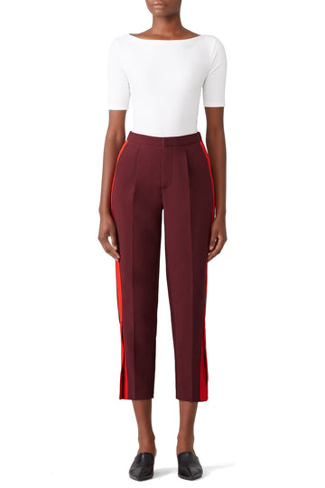 Red Abigail Trousers