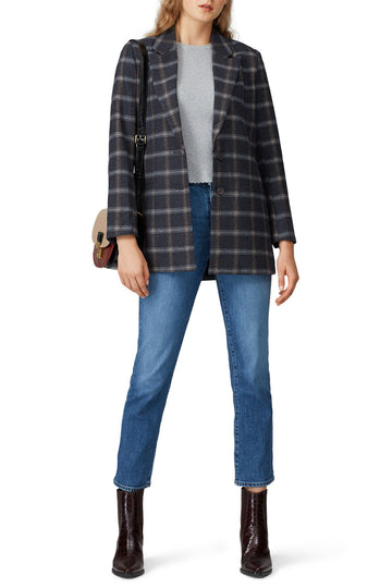 Grey Plaid Billie Blazer