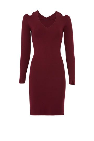Burgundy Veronica Dress
