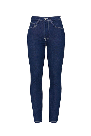 Dark Blue Vintage Crop Jeans