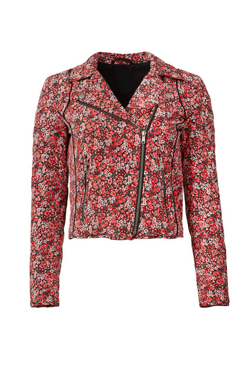Red Floral Frona Jacket