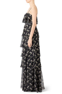 Floral Kiera Ruffle Gown