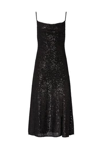 Sequin Cowl Neck Slip Dress