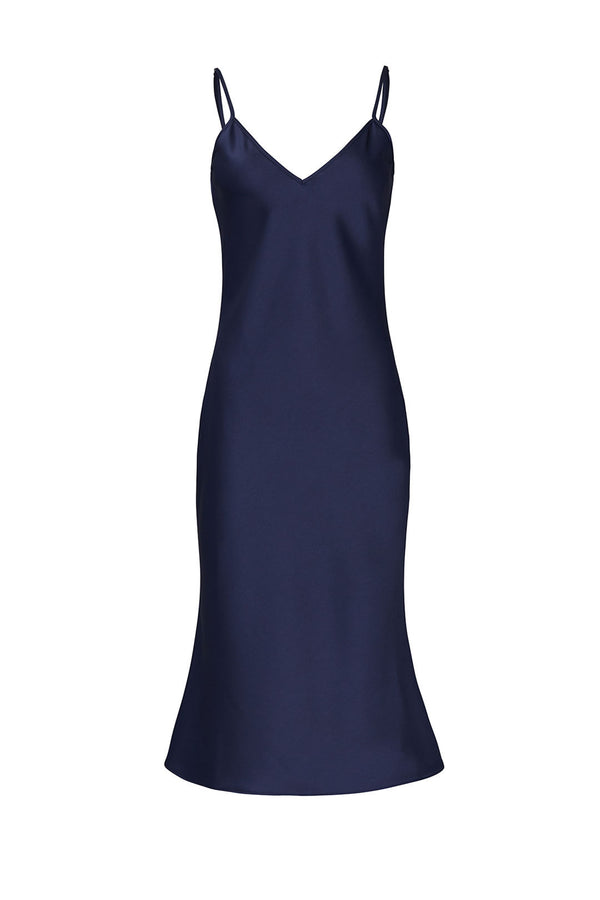 Simone Sateen Slip Dress