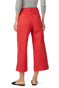 Americana Red Emmett Wide Leg Crop Pants