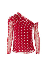 Red Polka Dot Top