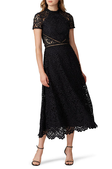 Sheer Side Lace Dress