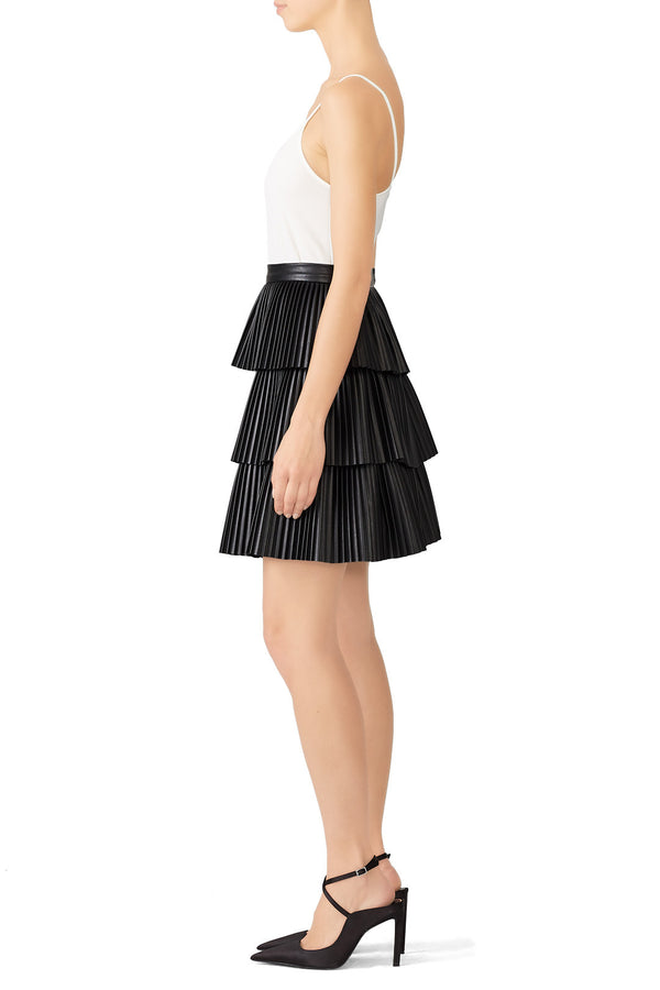 Faux Leather Demi Skirt