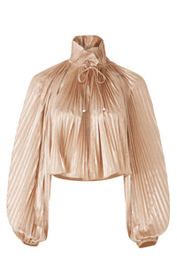 Foil Pleated Top