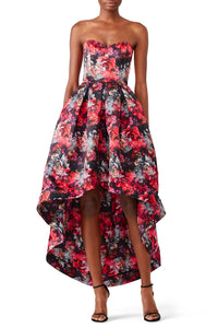 Abstract High Low Gown