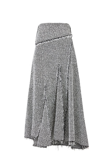 Draped Knit Midi Skirt